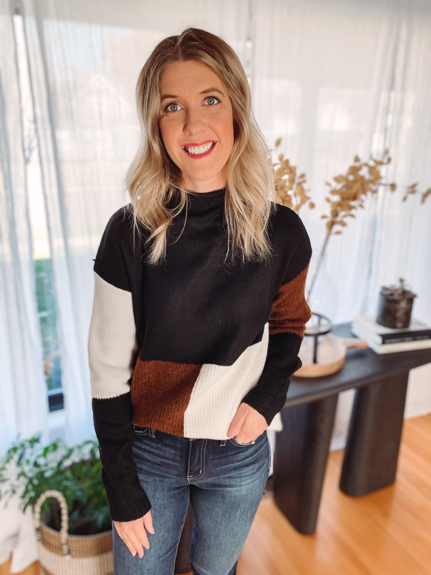 Tayla Color Block Sweater