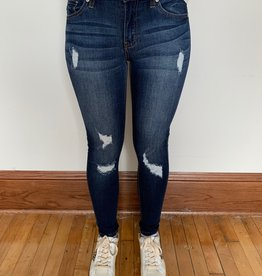 Gemma Mid Rise Distressed Jeans