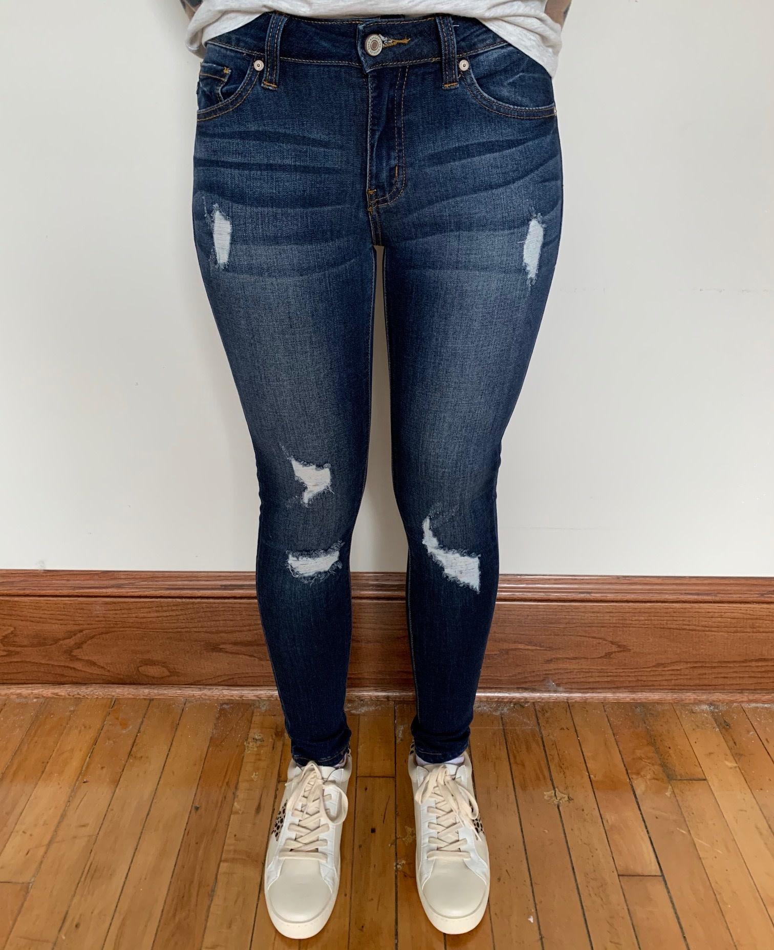 Gemma Mid Rise Distressed Jeans