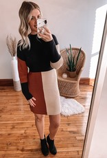 Britta Color Block Sweater Dress