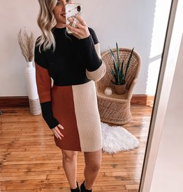Britta Color Block Sweater Dress