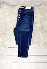 Stella Button Fly Distressed Jeans