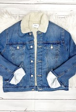 Oversized Sherpa Denim Jacket