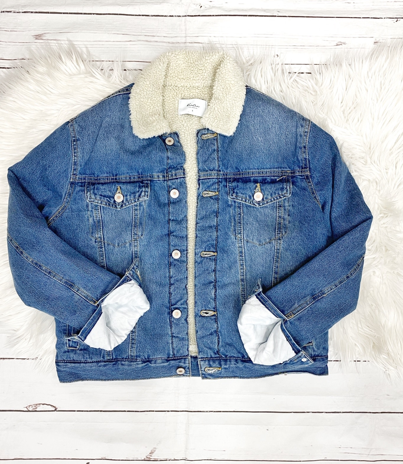 Oversized Sherpa Denim Jacekt