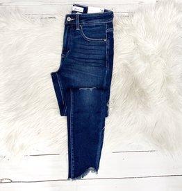 Elizabeth Frayed High Rise Jeans