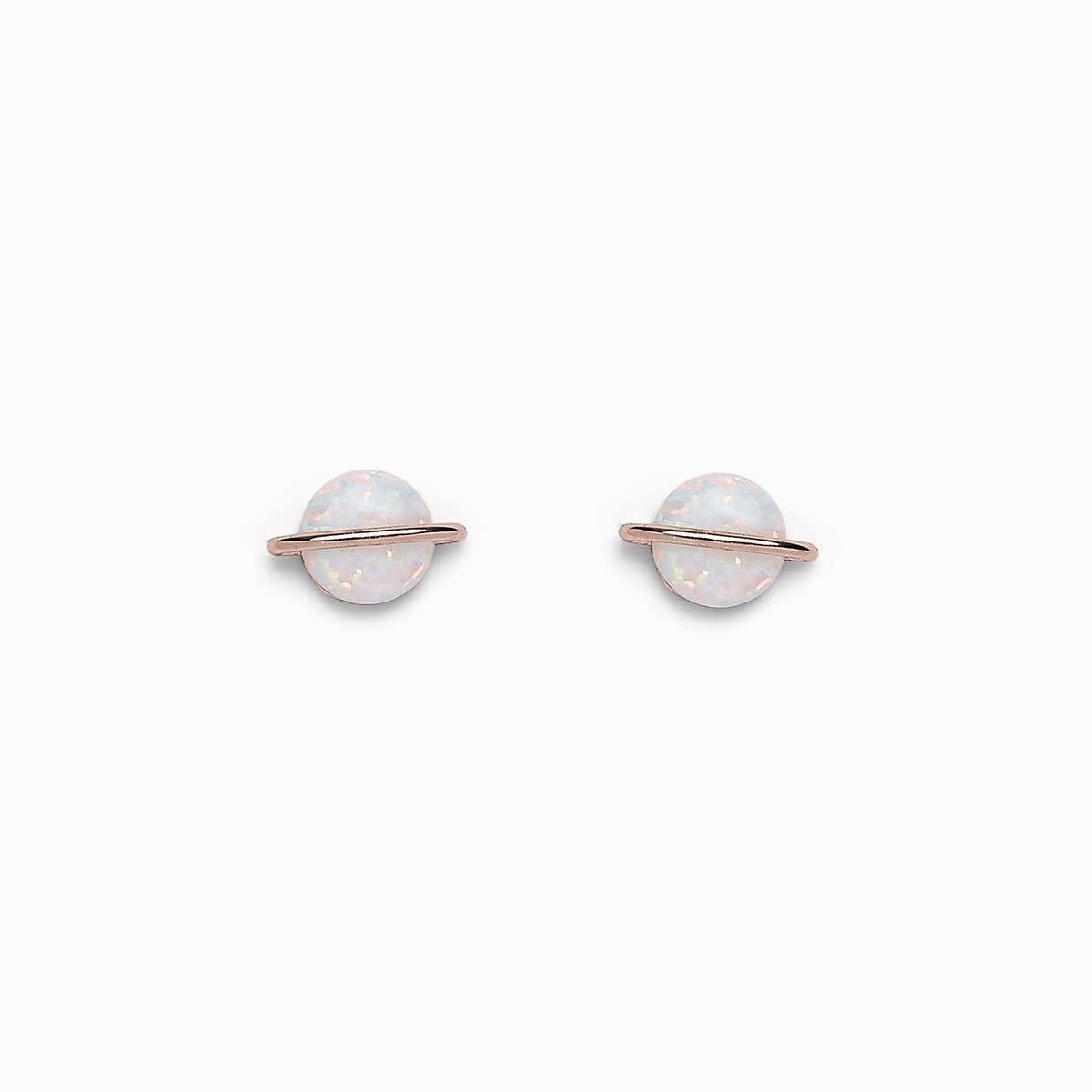 PuraVida Opal Saturn Stud Earrings
