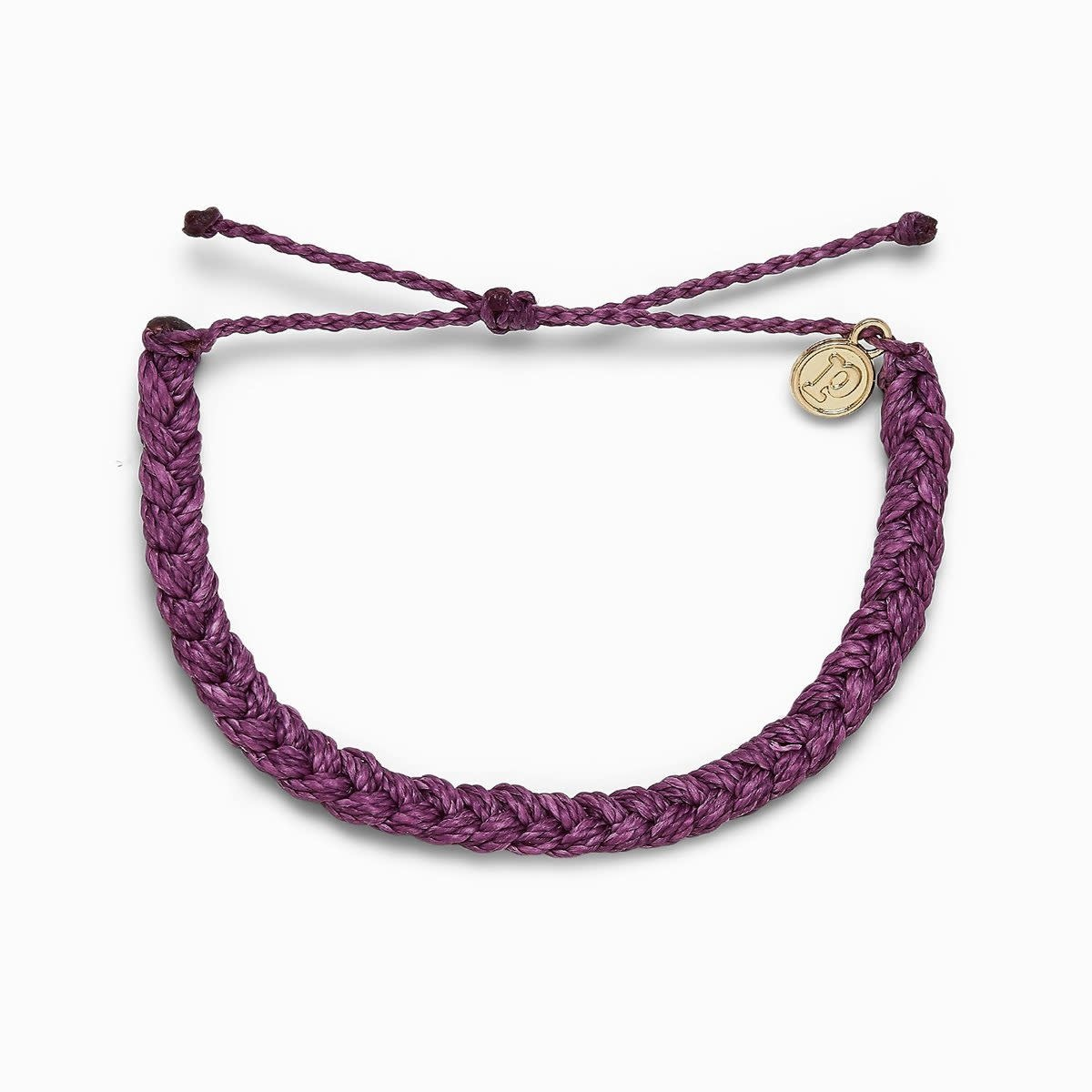 PuraVida Solid Braided Dark Lilac Bracelet
