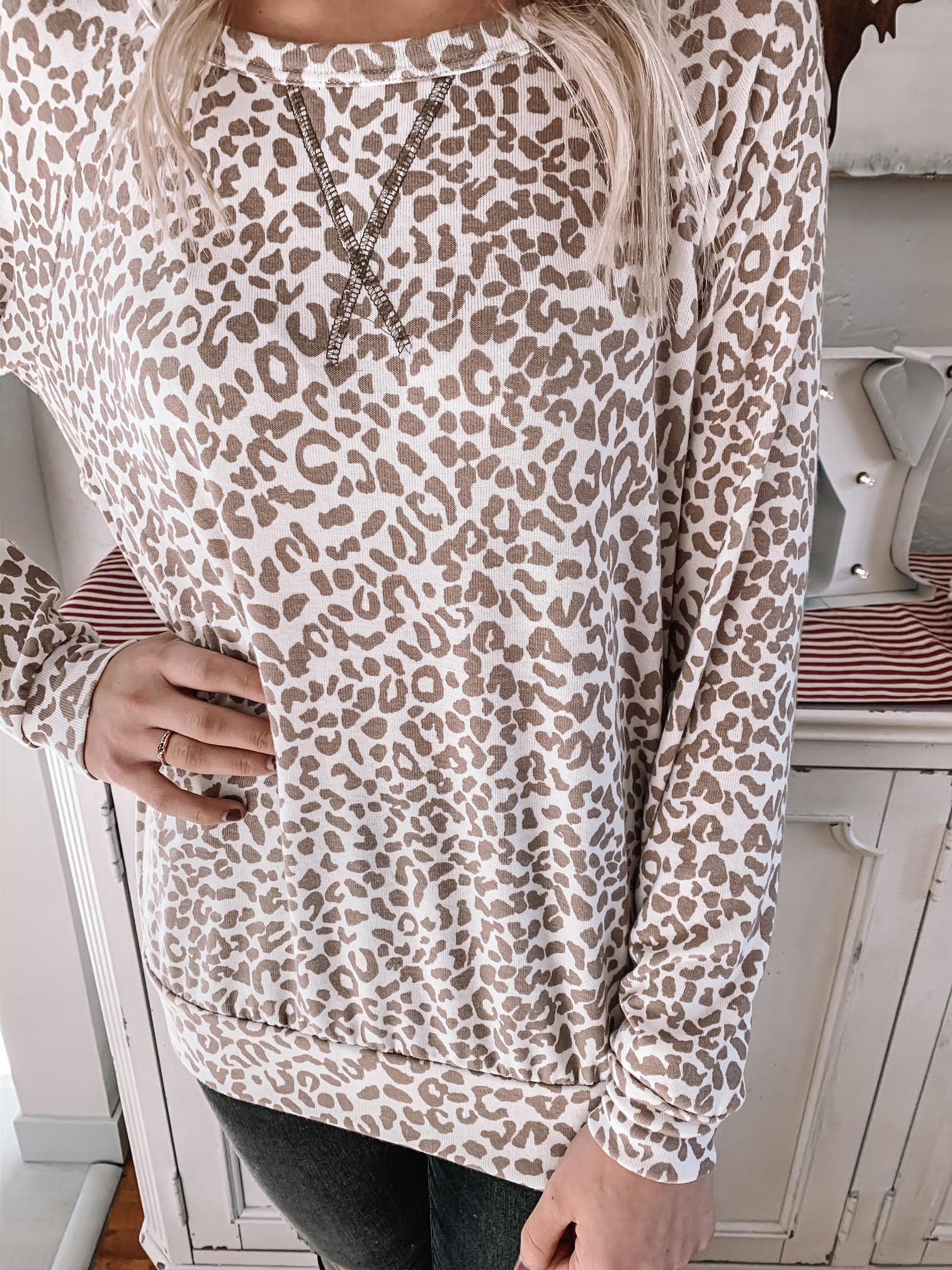 Lyla Taupe Leopard Top