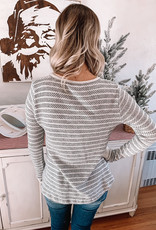 Luna Textured Striped Long Sleeve