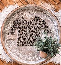 Toddler Taupe Leopard Sweater