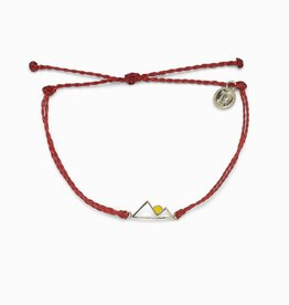 PuraVida Rising Sun Dark Red Bracelet