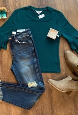 Ruffled Pine Sweater