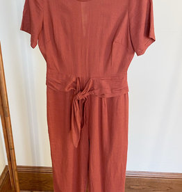 Lush Rust Short Sleeve Jumpsuit