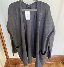 Week& Charcoal Longline Cardigan