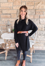 Ellie Black Turtleneck Dress
