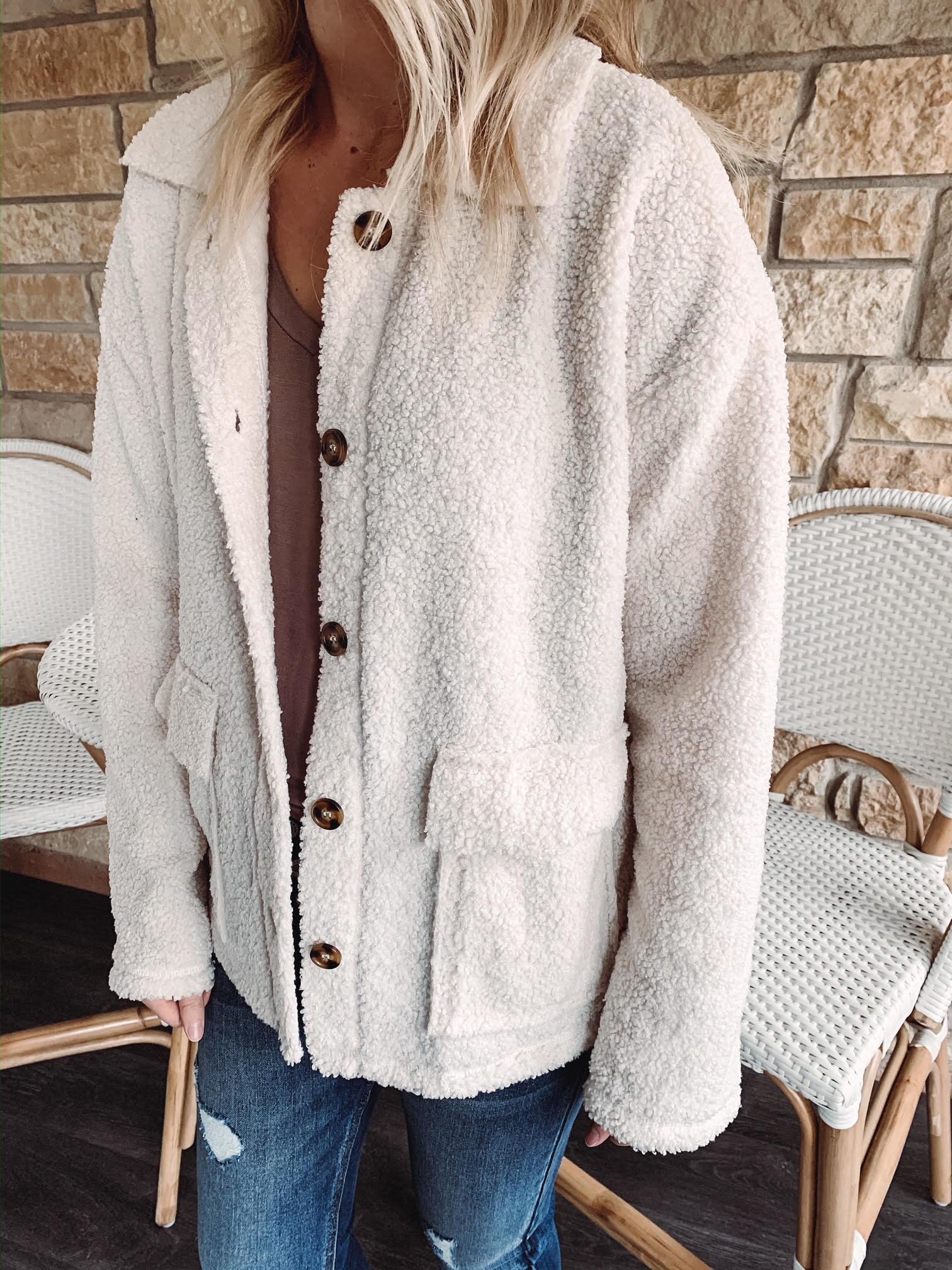 Ivory Teddy Jacket