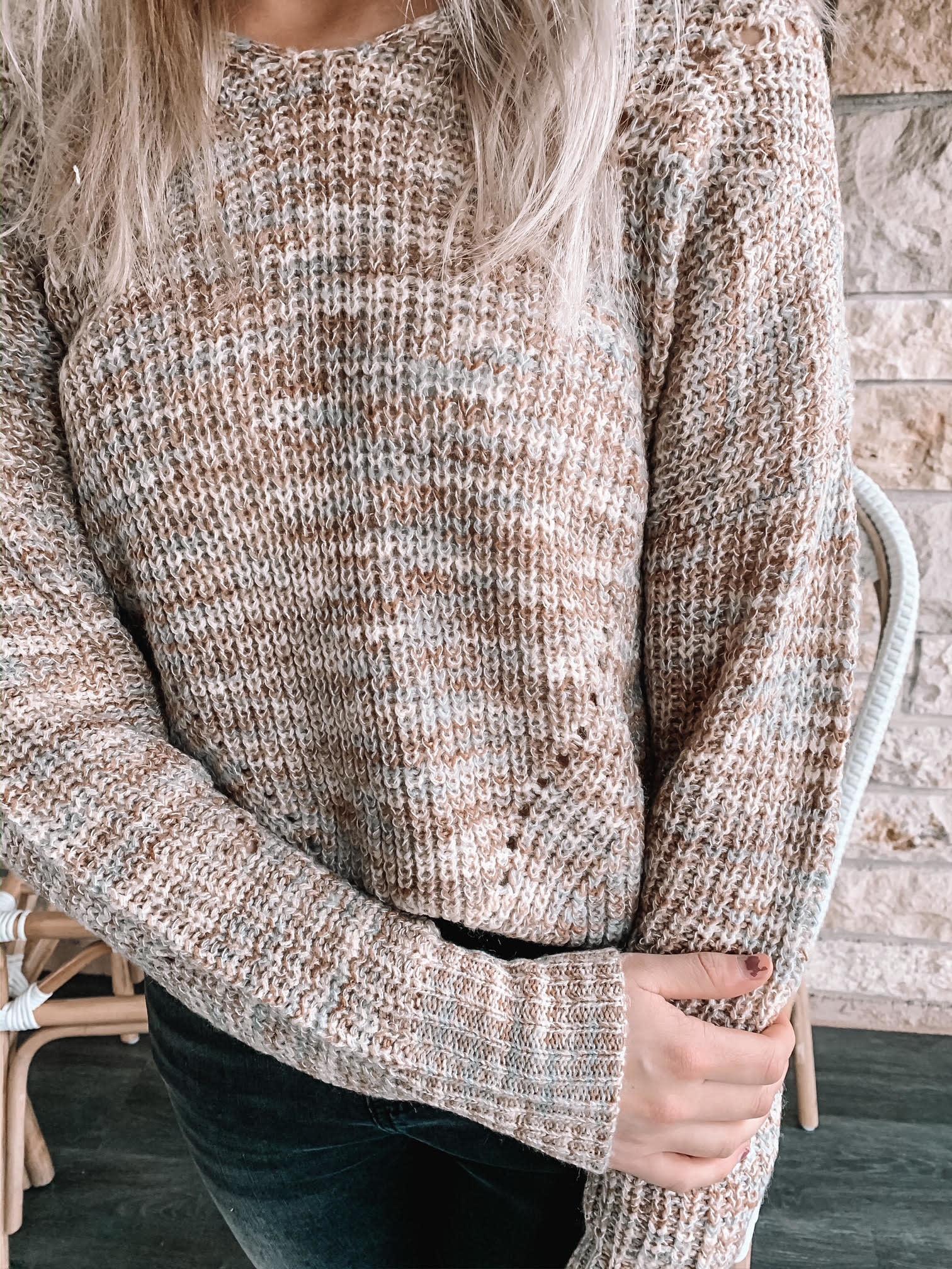 Corley Khaki Multi Colored Sweater
