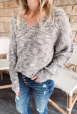 Corley Gray Multi Colored Sweater