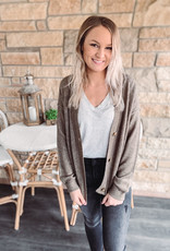 Charcoal Button Cardigan