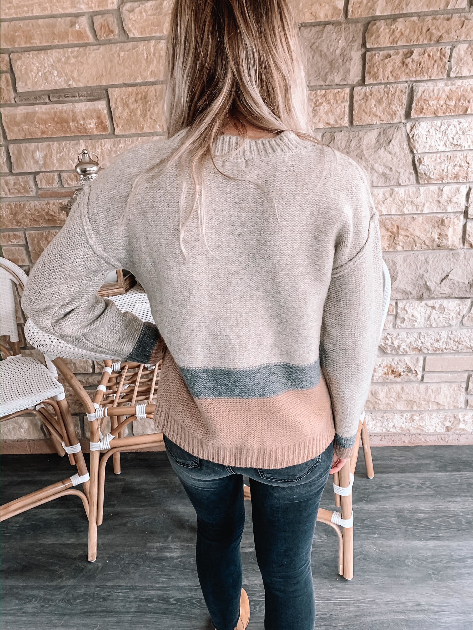 Latte Distressed Sweater