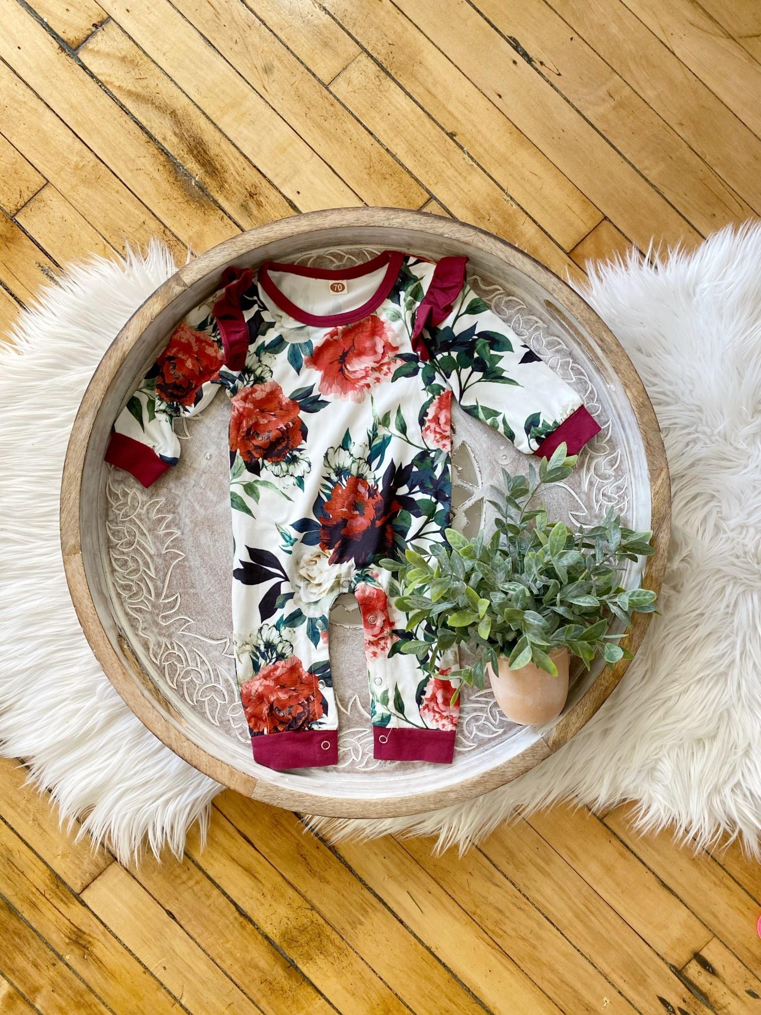 Infant Floral Sleeper