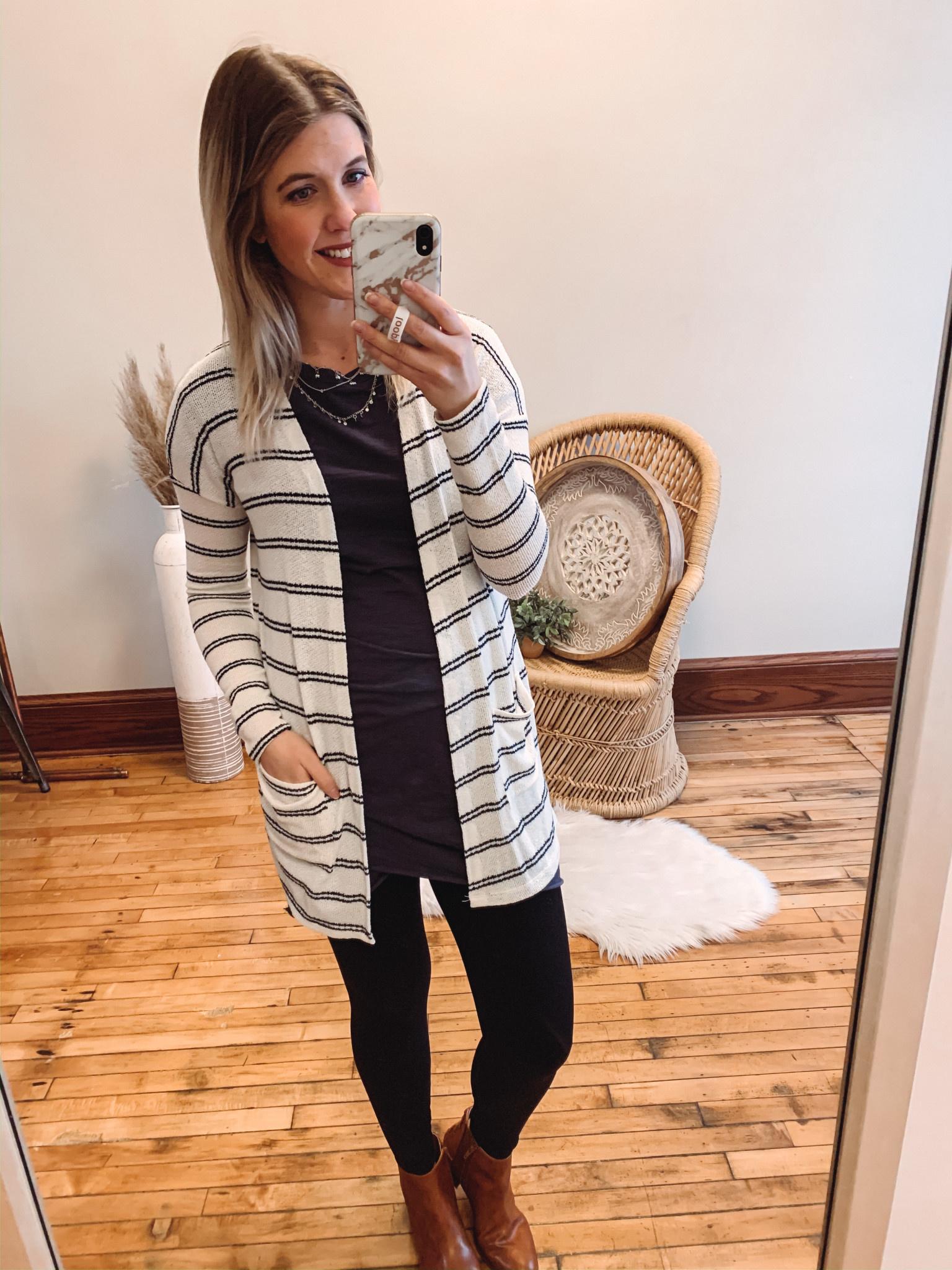 Kaylee Striped Cardigan