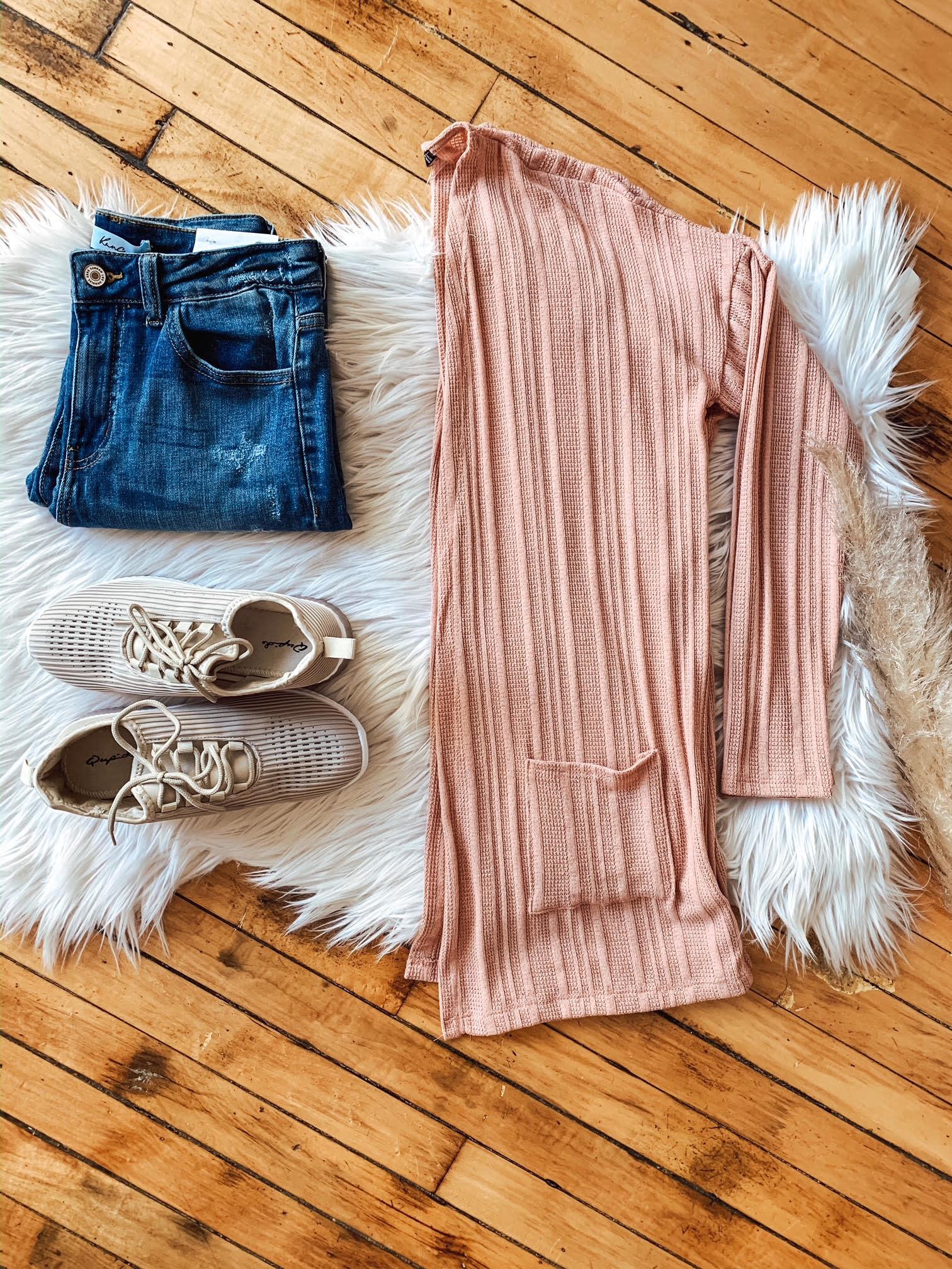 Mauve Knit Cardigan
