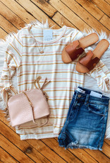 Yellow + Pink Striped Top