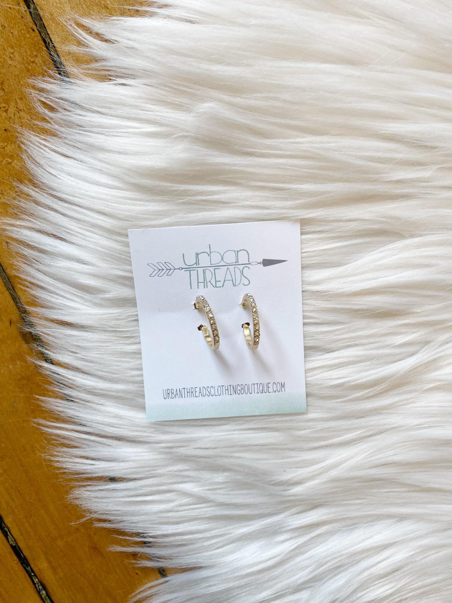 Lydia Beaded Hoop Earrings