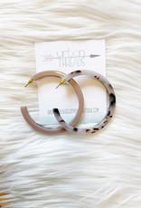 Kaley Marble Hoop Earrings