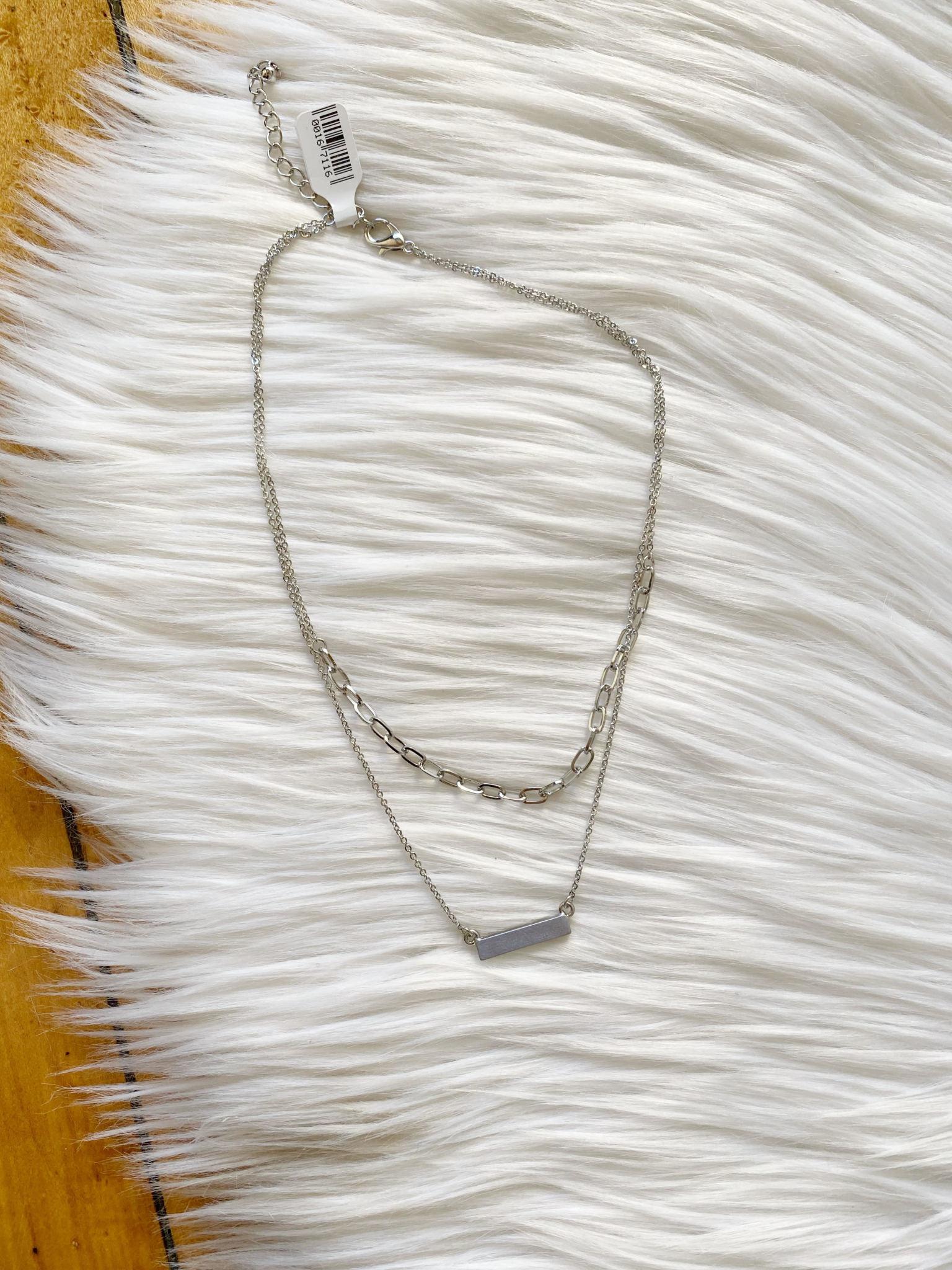 Chain + Bar Layered Necklace