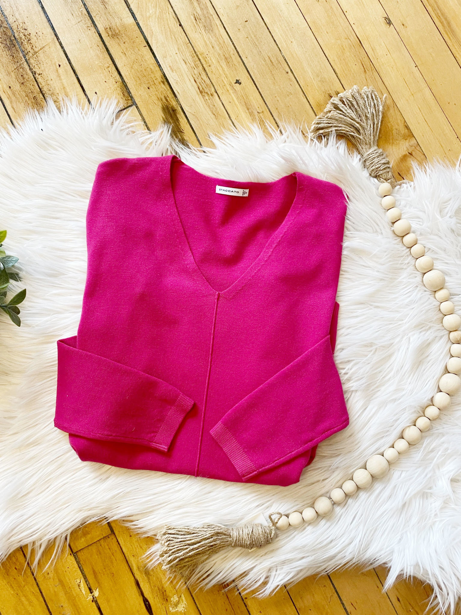 Emma Fuchsia Sweater