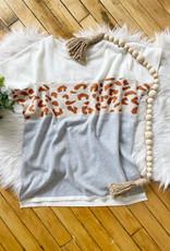 Leopard Short Sleeve Sweater