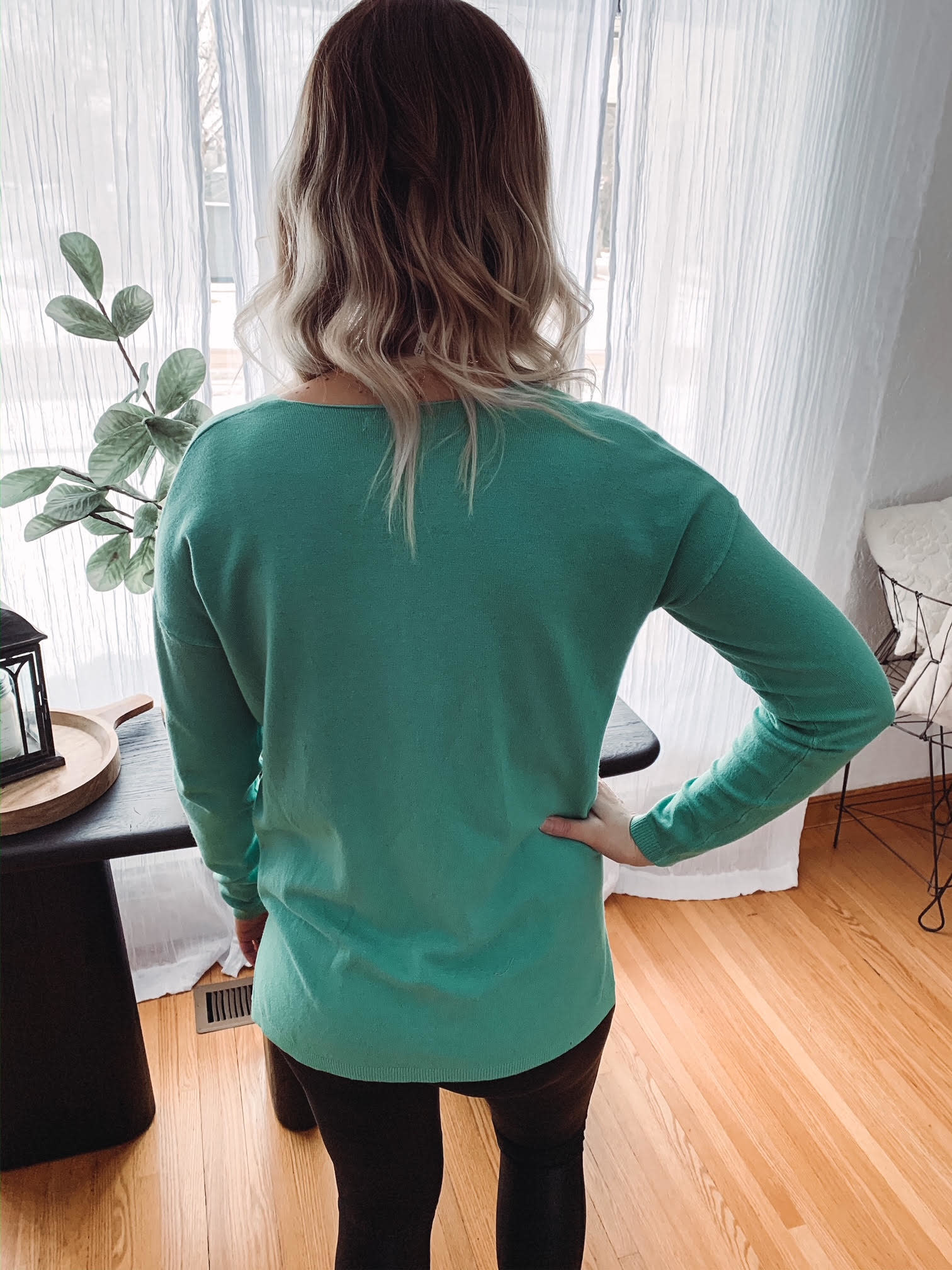 Emma Spring Green Sweater