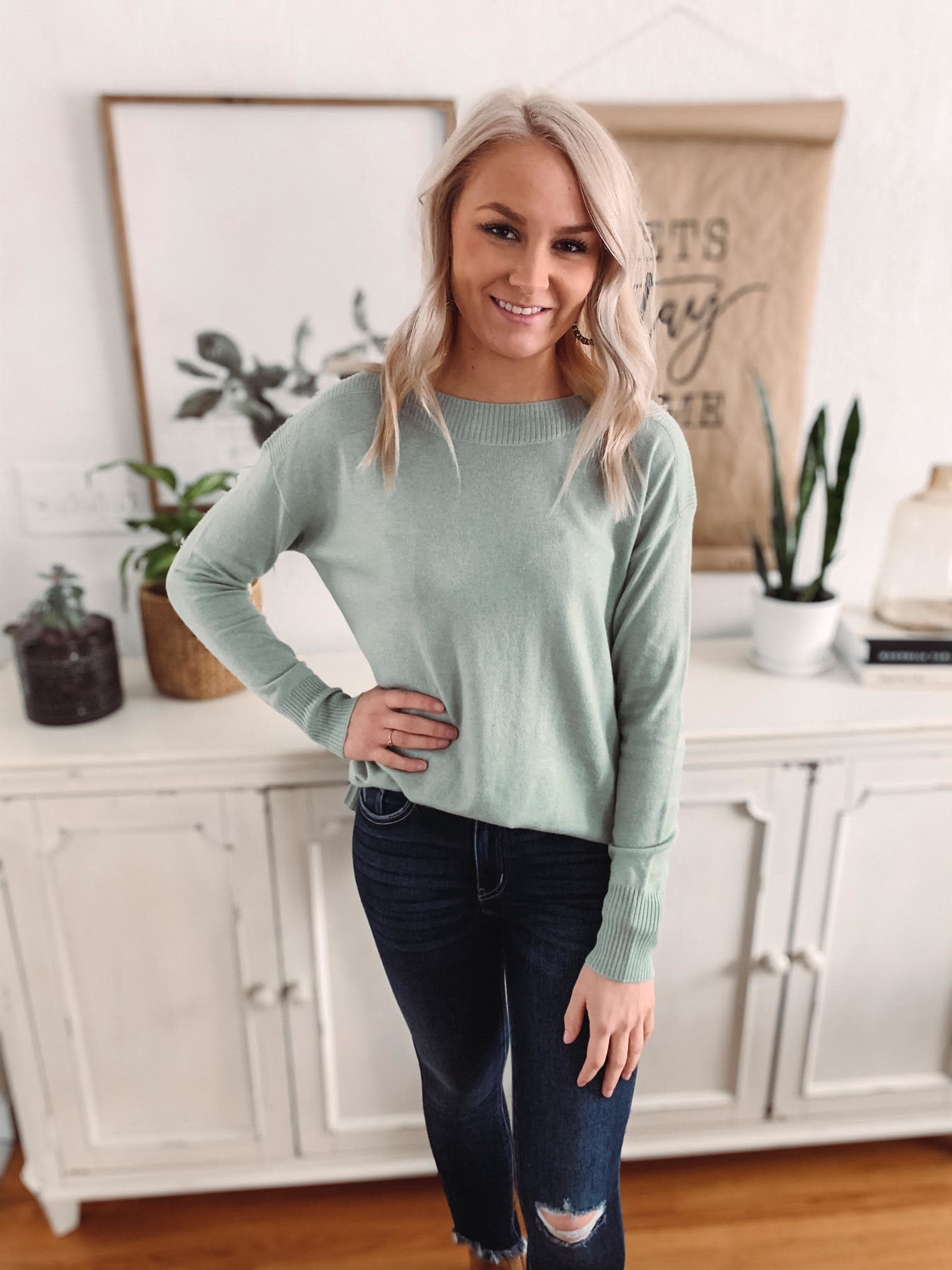Alexis Mint Sweater