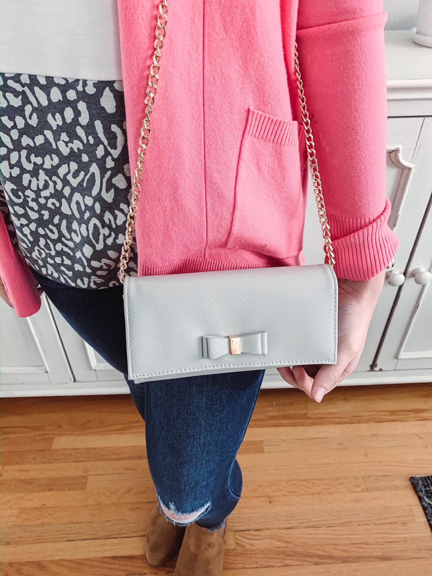 Nora Grey Crossbody + Wallet