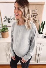 Grey Reema Long Sleeve Top