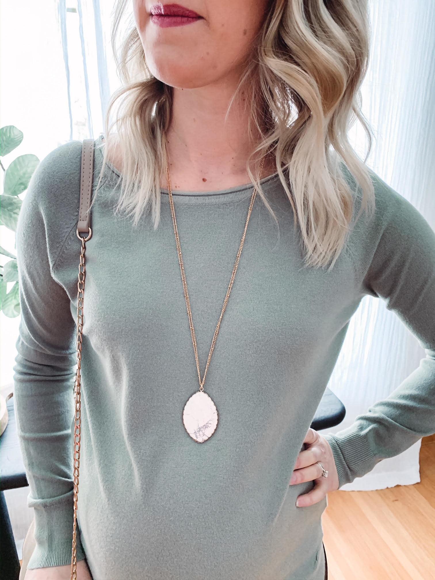 Jada White Pendant Necklace