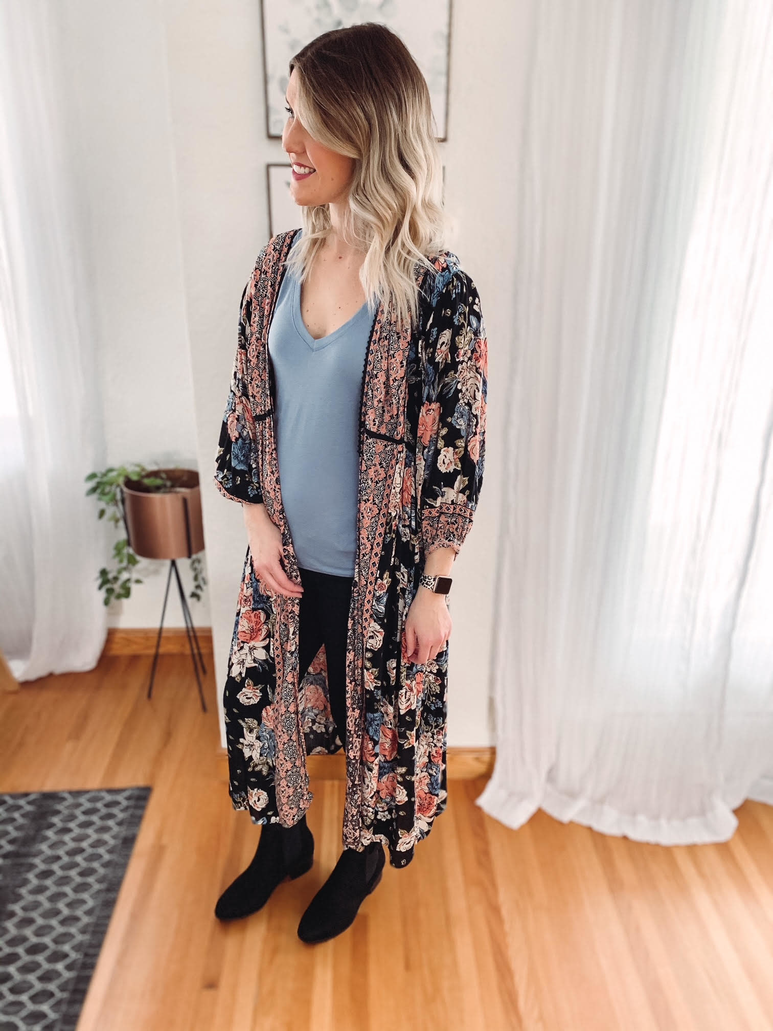 Sydney Floral Duster Kimono