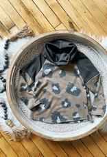 Girls Leopard Cowl Neck