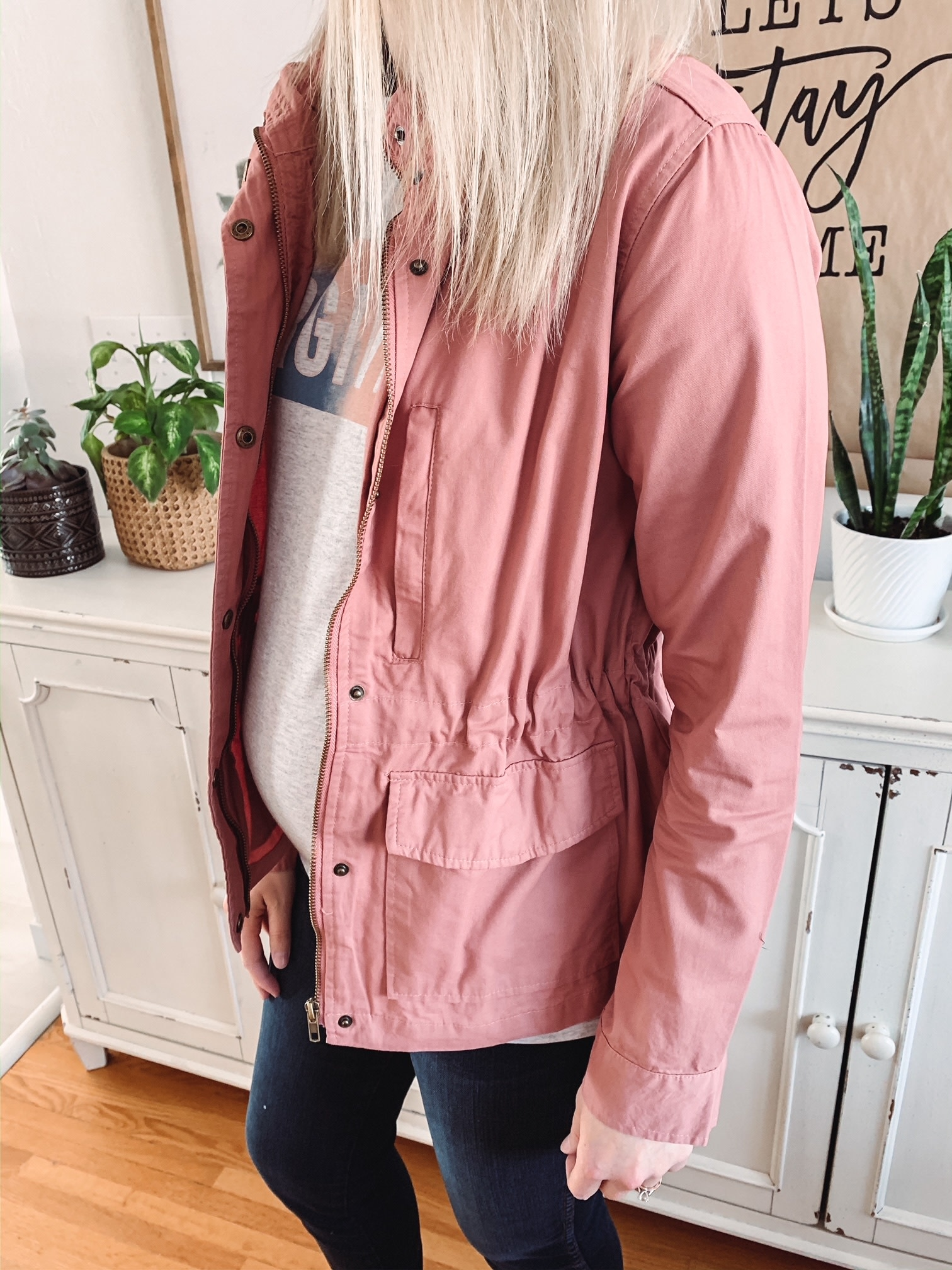 Lucy Mauve Military Jacket