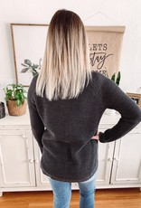 Molly Charcoal Scalloped Sweater