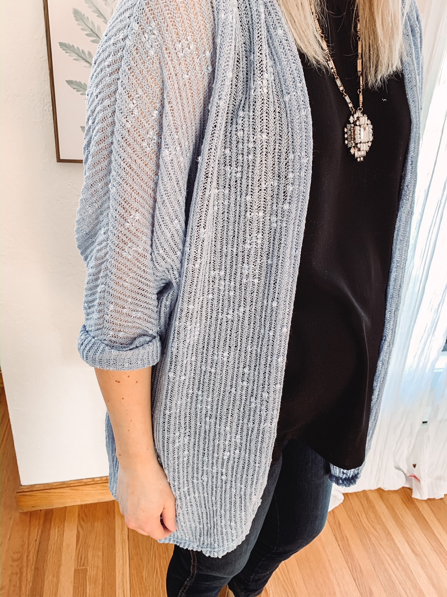 Haley Powder Blue Cardigan