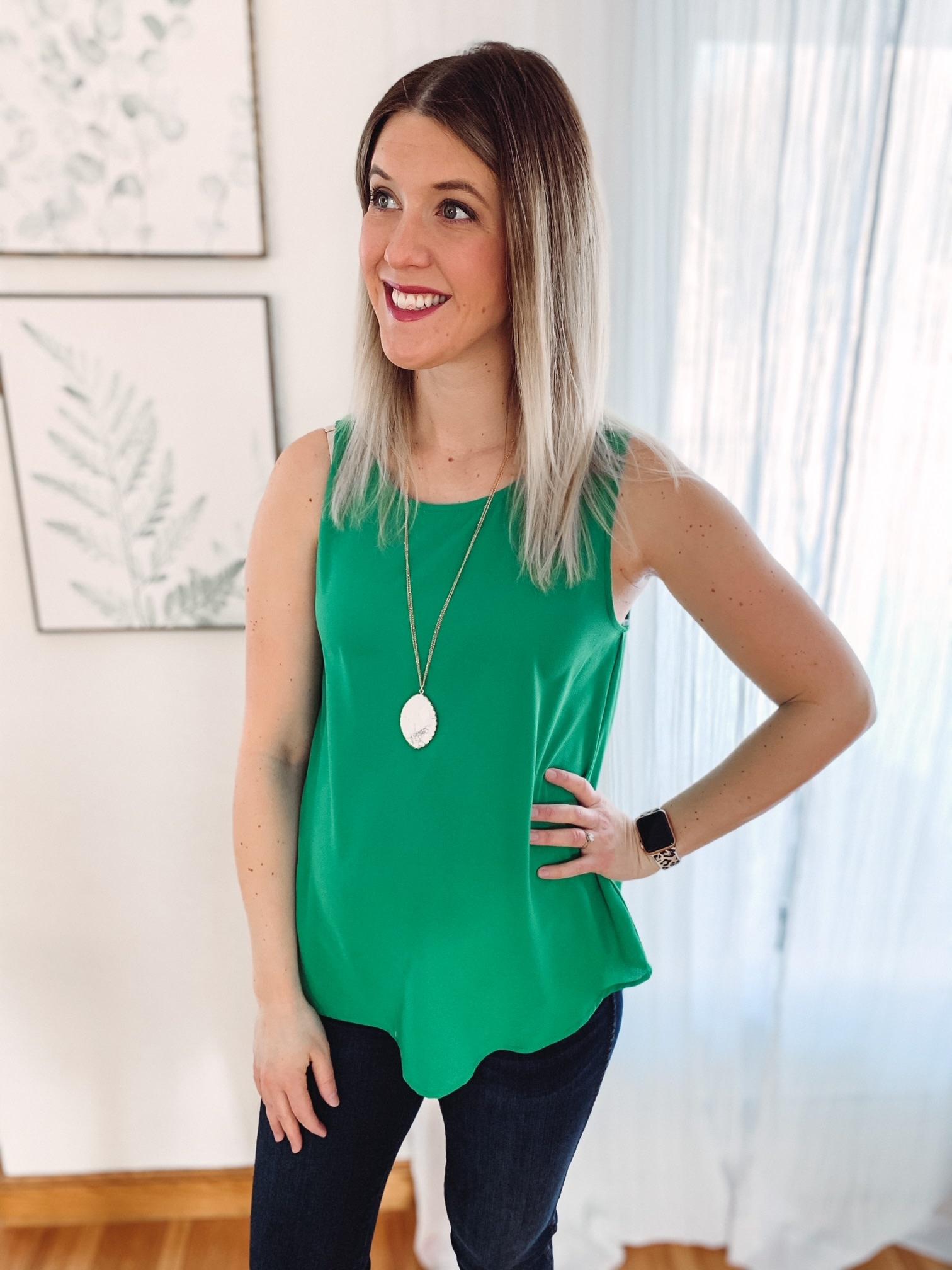 Olivia Green Tank
