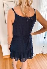 Grace Navy Swiss Dot Dress