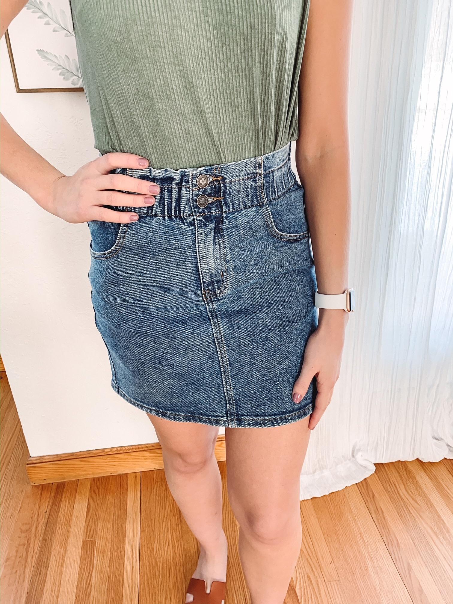 Trish Medium Denim Skirt