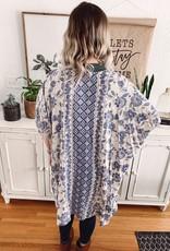 Sierra Ivory Floral Kimono