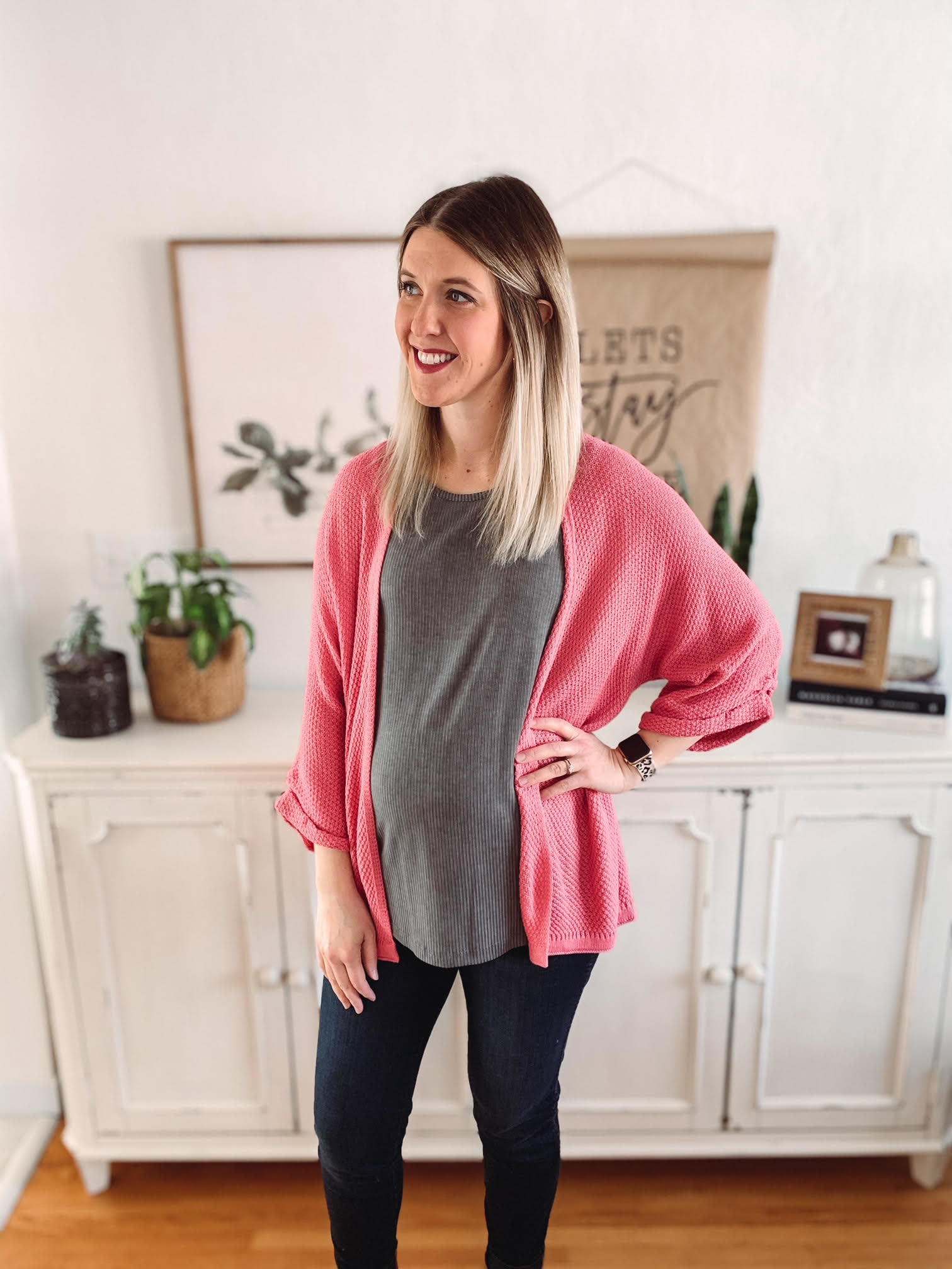 Zora Pink Cardigan