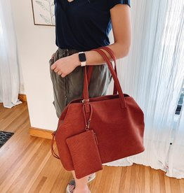Madison Clay Bag + Wristlet