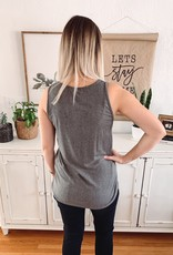Grey Ribbed Basic Tank